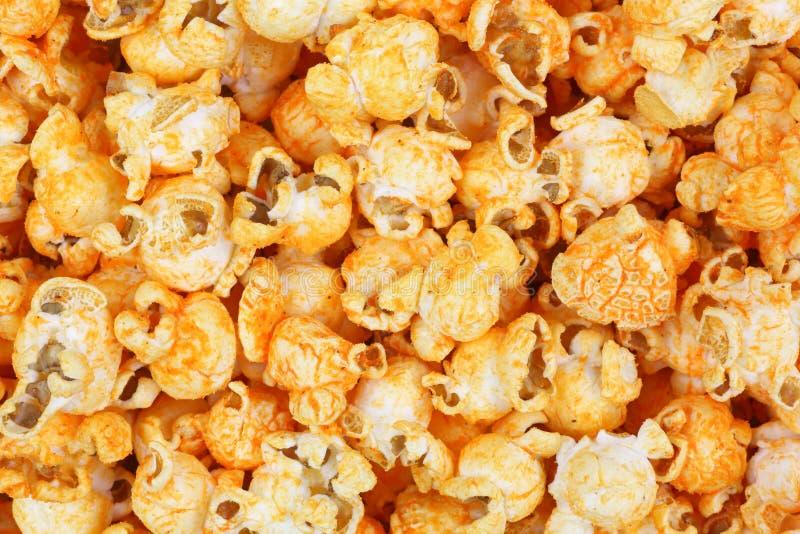 Aroma-Abschluss-Ansicht der Cheddar-Käse-Popcorn-scharfen Soße stockfotos