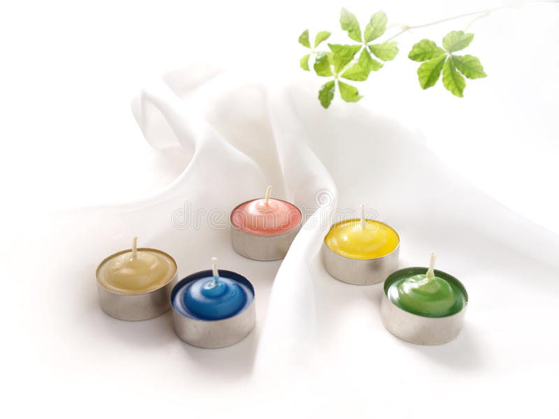 Aroma Candles Stock Photo