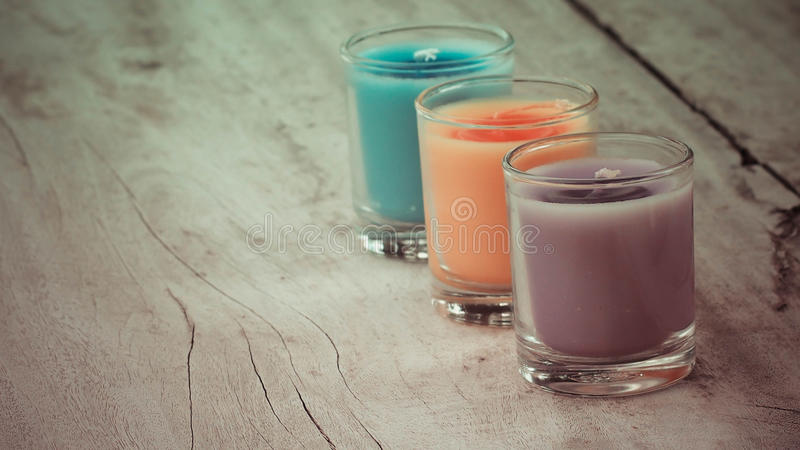 Aroma candles stock photography
