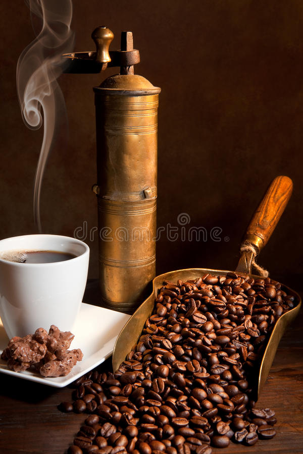 Aroma of coffee stock photography