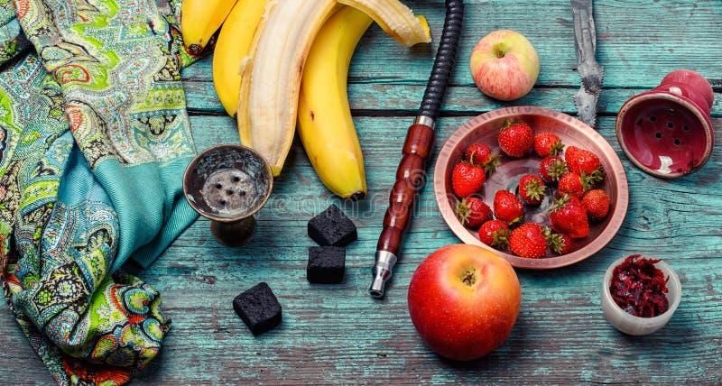 Aroma della banana nel fumo fotografia stock