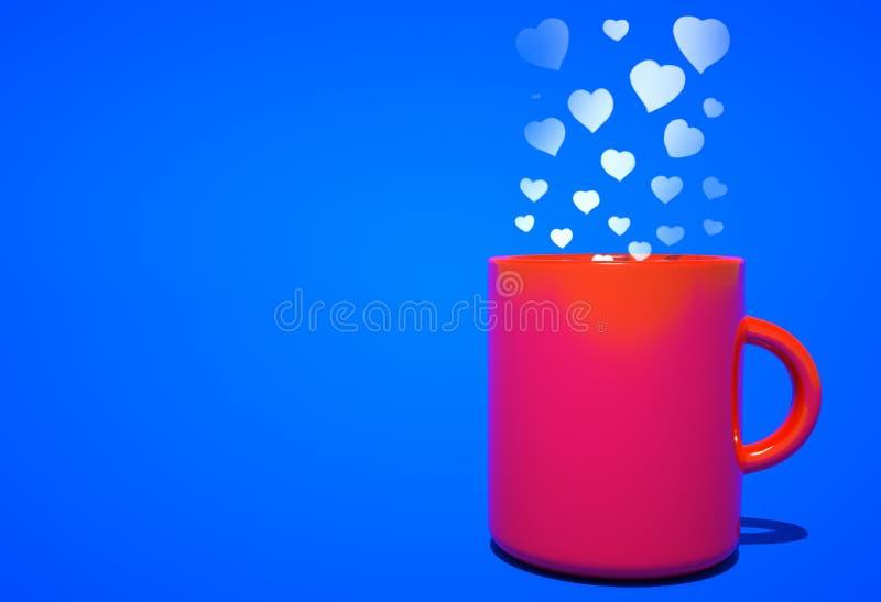 Aroma der Liebe kommend vom Kaffee lizenzfreie abbildung