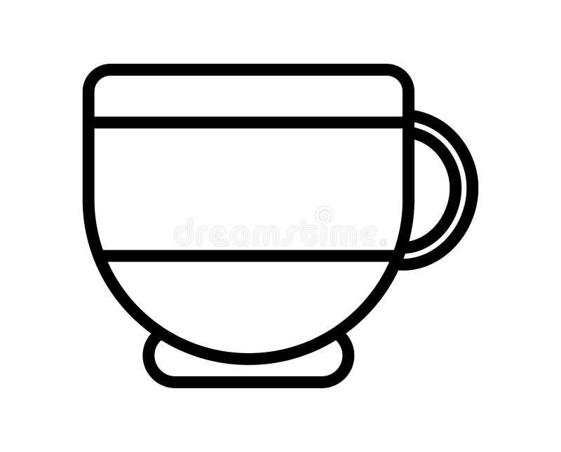 Aroma di caffè aroma di cartone animato di bevande Icona linea spessa illustrazione di stock