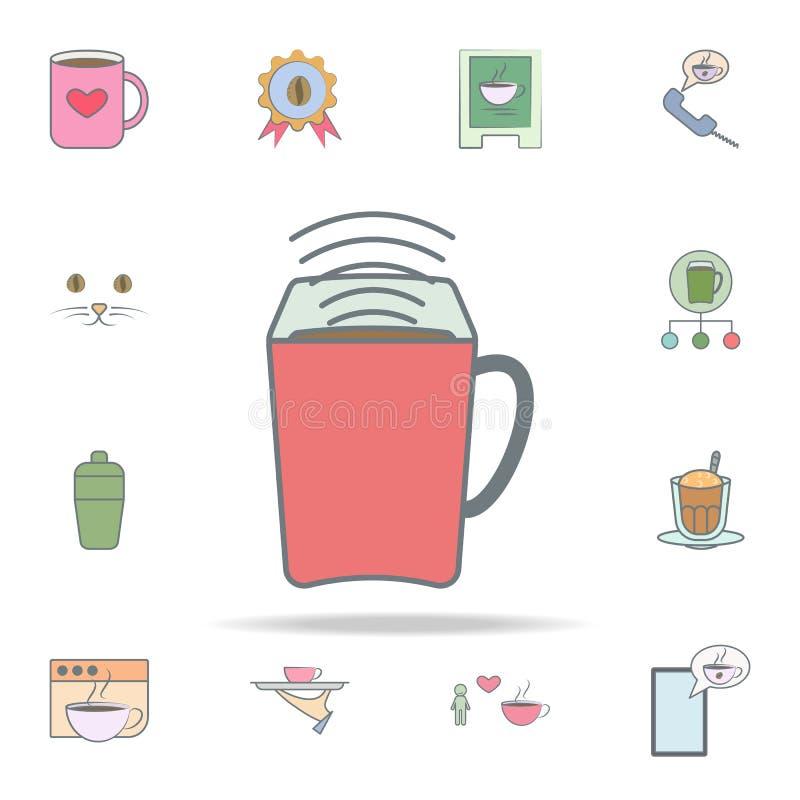 aroma do café no ícone da caneca grupo universal dos ícones do café para a Web e o móbil ilustração do vetor