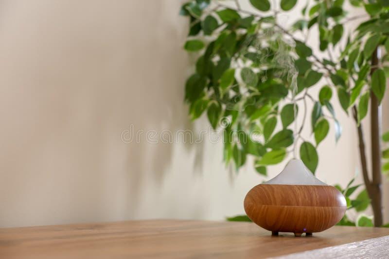 Aroma oil diffuser lamp stock photos