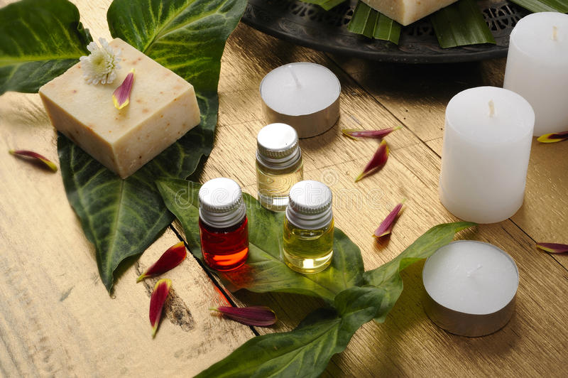 Aroma oil and soap stock image