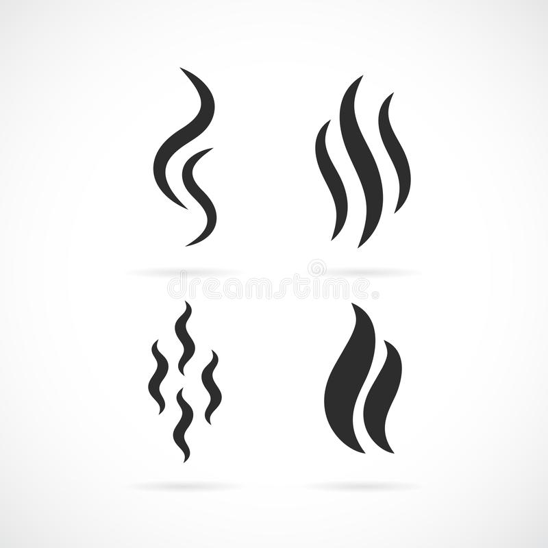 Aroma smell vector icon. S set royalty free illustration