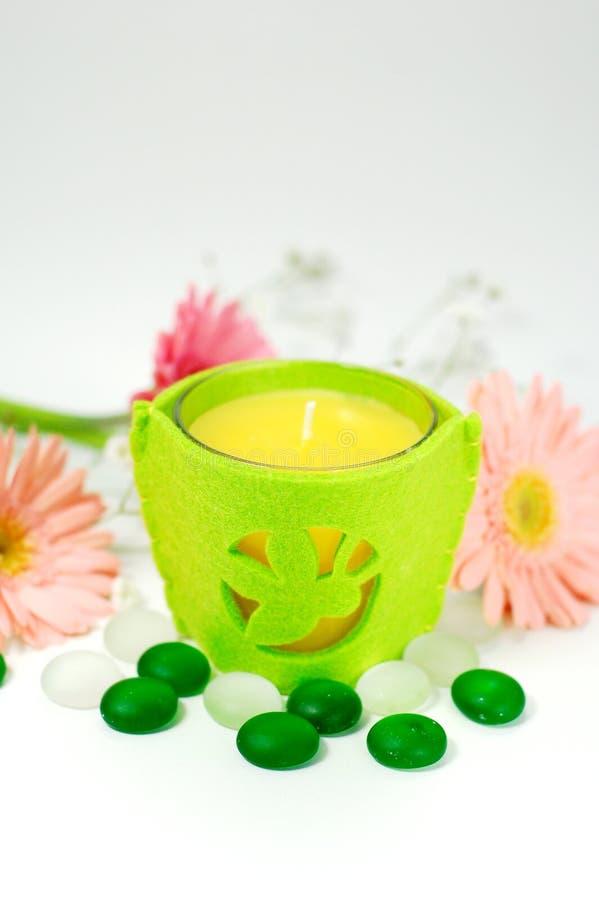 Aroma-Therapie-Kerze lizenzfreie stockbilder