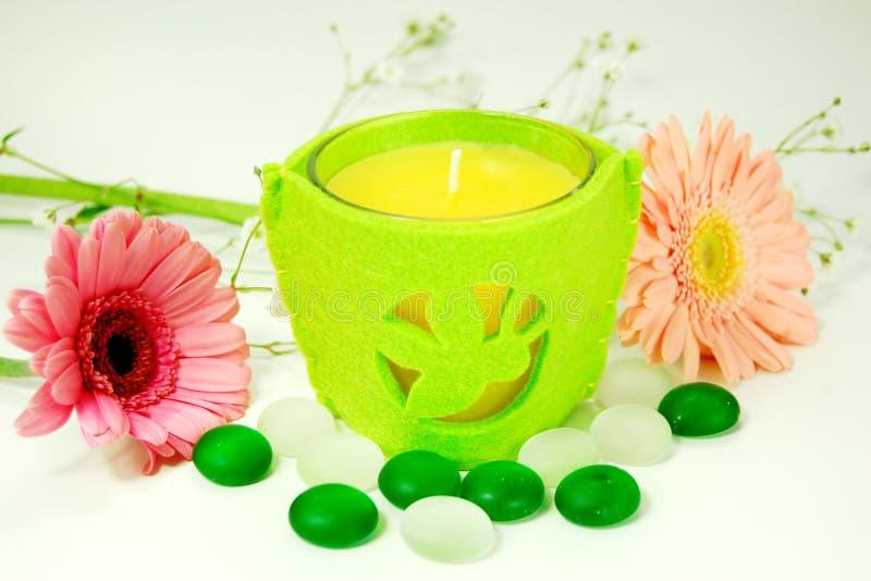 Aroma-Therapie-Kerze lizenzfreie stockfotos