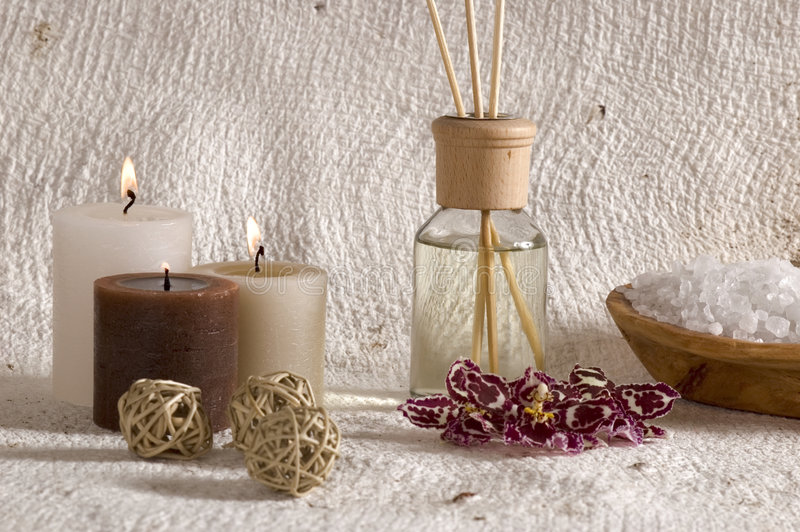 Aroma therapy stock photo