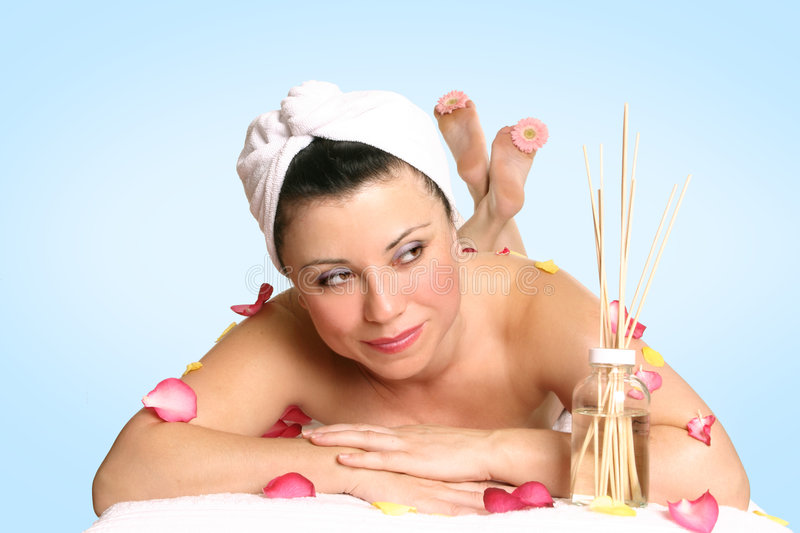 Aroma therapy beauty treatment royalty free stock image