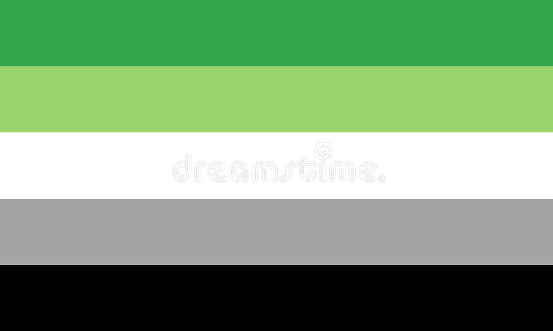 Aromantic flag - one of a communities of LGBT pride sexual minority vector illustration