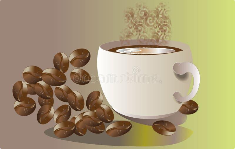 Aromat kawa royalty ilustracja