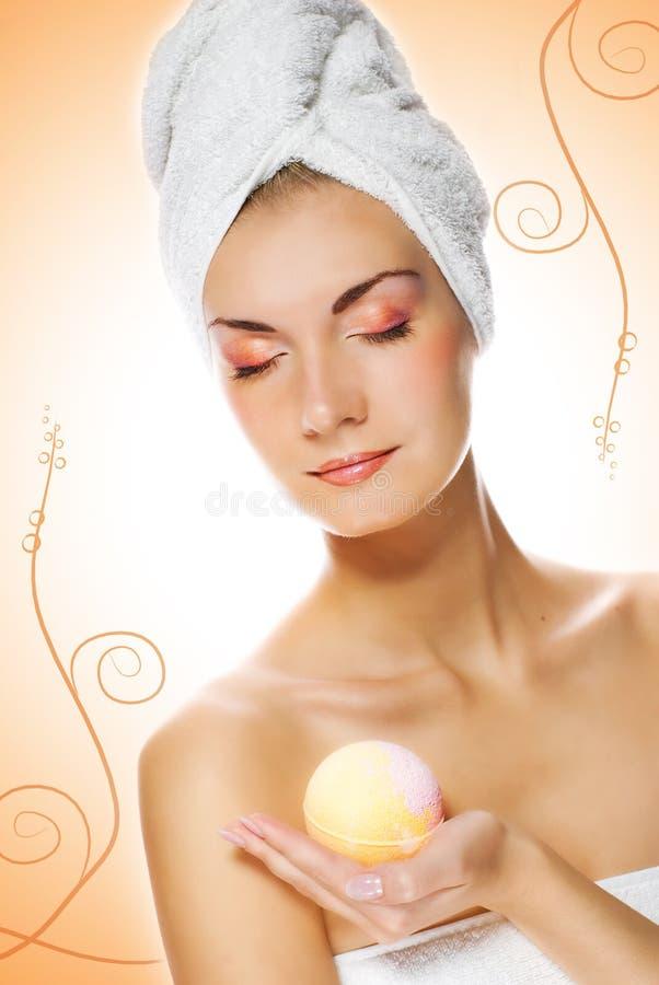 aromat wanny kobieta jaja zdjęcie stock