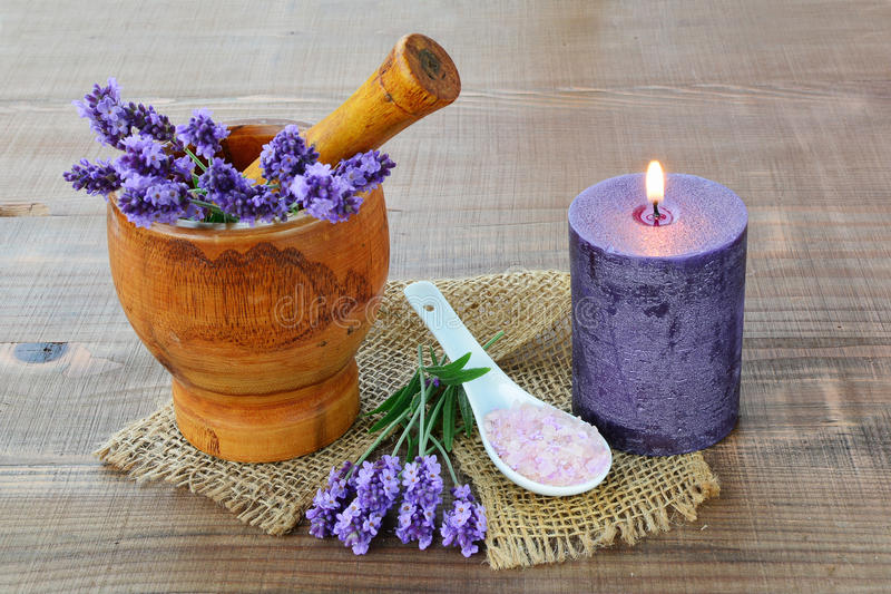 Aromatheraphy лаванды стоковые фото