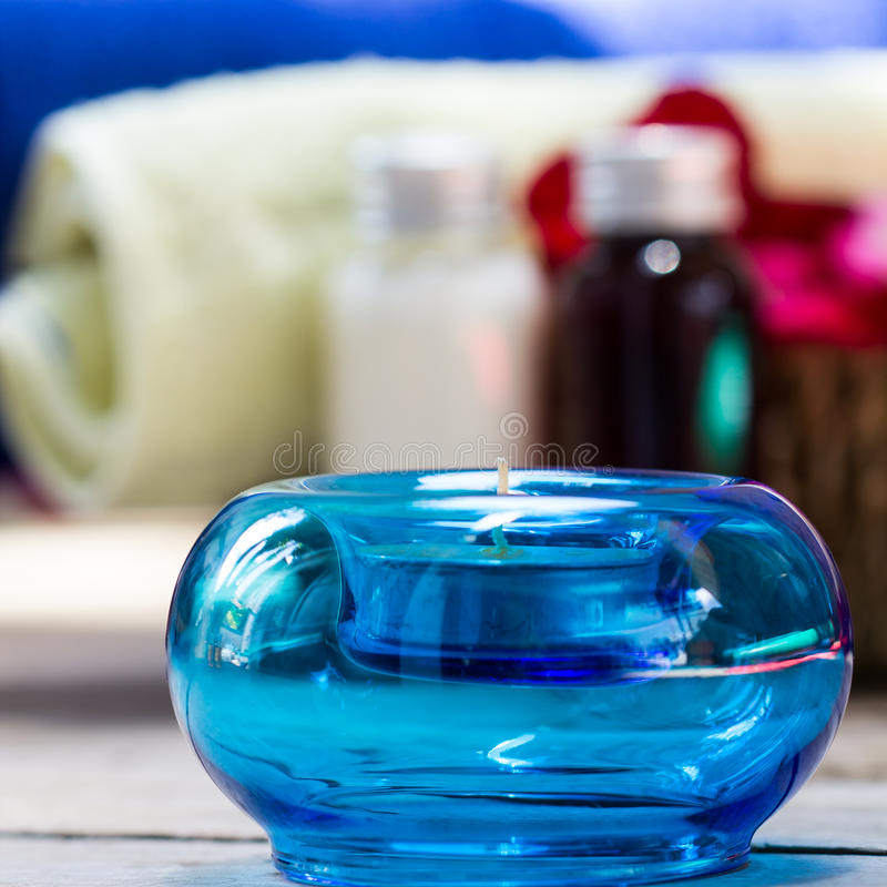 Aromatherapiekerzen Lizenzfreies Stockfoto