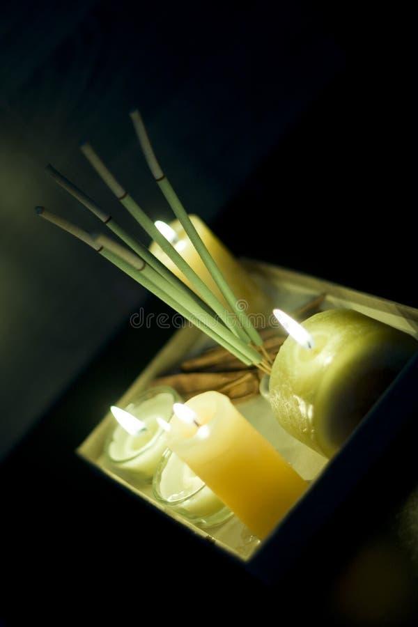 Aromatherapieset lizenzfreie stockfotos