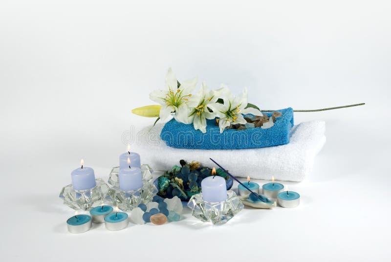 aromatherapy对象温泉 免版税图库摄影