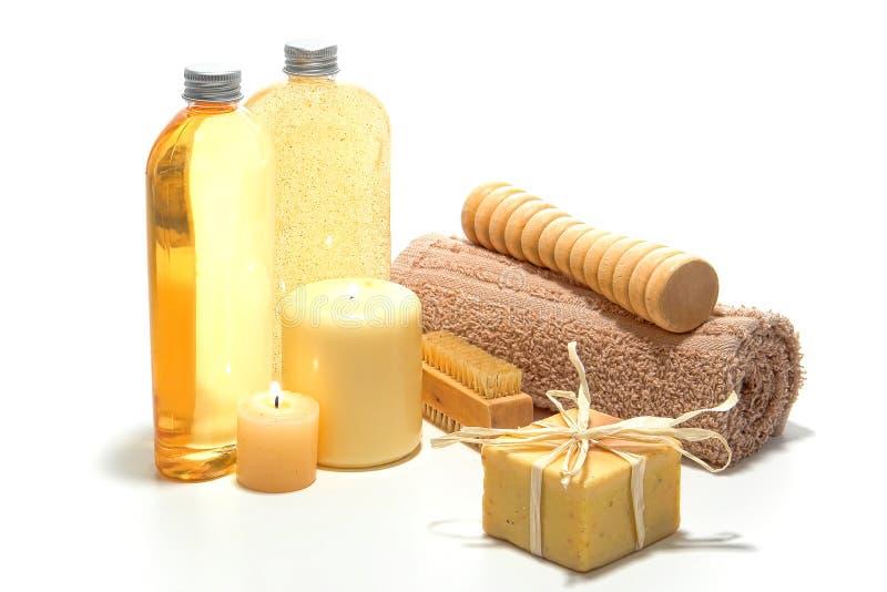 aromatherapy技工自然肥皂 图库摄影