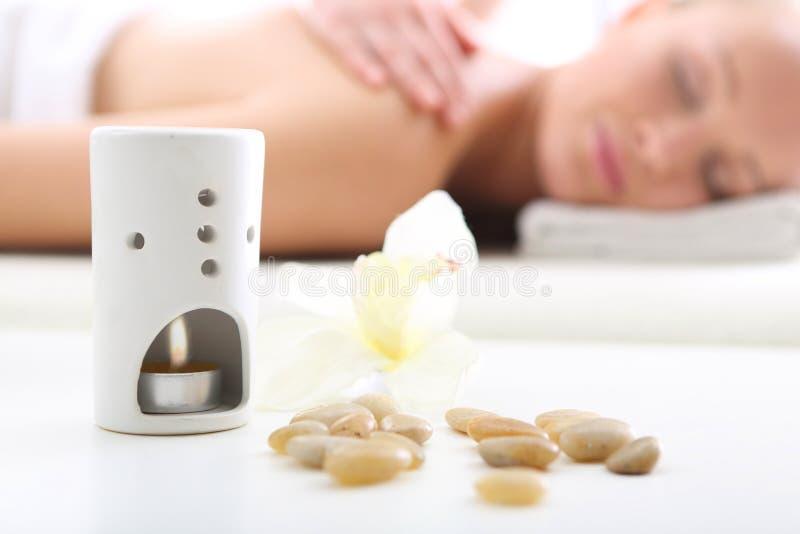 aromatherapy按摩 库存照片