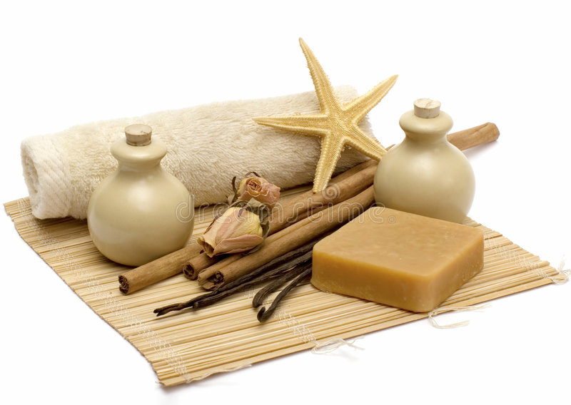 aromatherapy清洁产品 库存照片