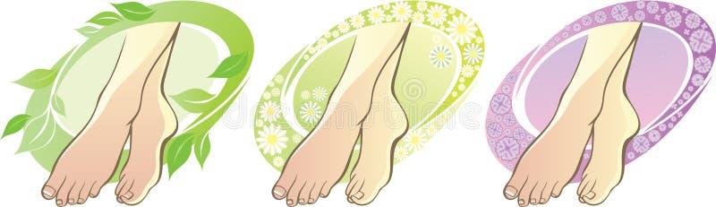 aromatherapy英尺 向量例证