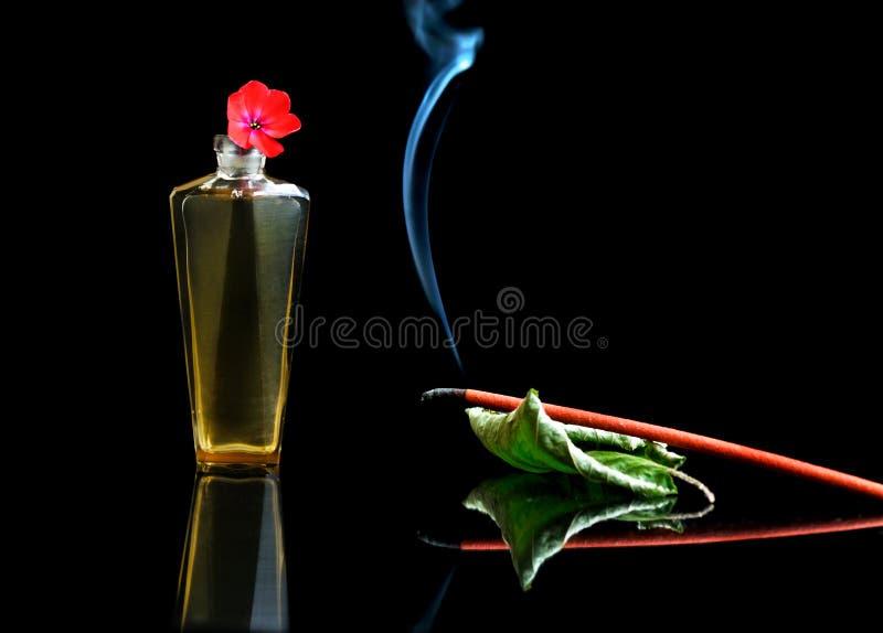 aromatherapy被烧的香火棍子 免版税库存图片