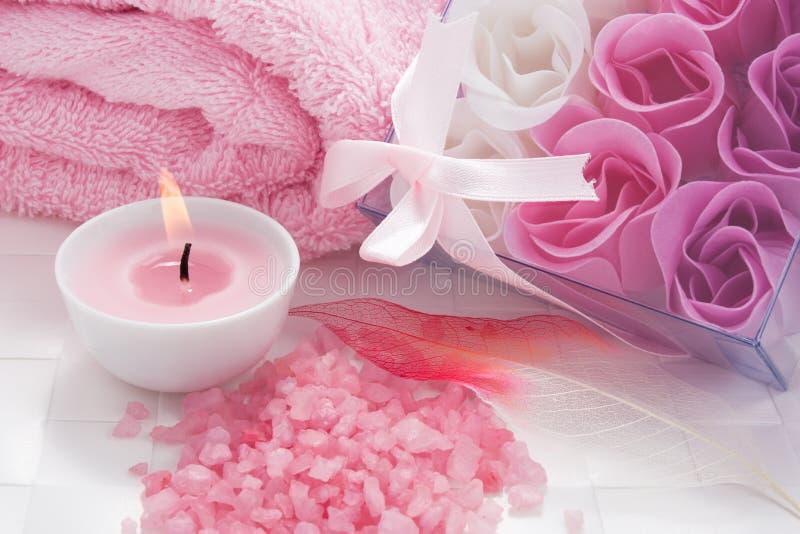aromatherapy καθορισμένη SPA στοκ εικόνες με δικαίωμα ελεύθερης χρήσης