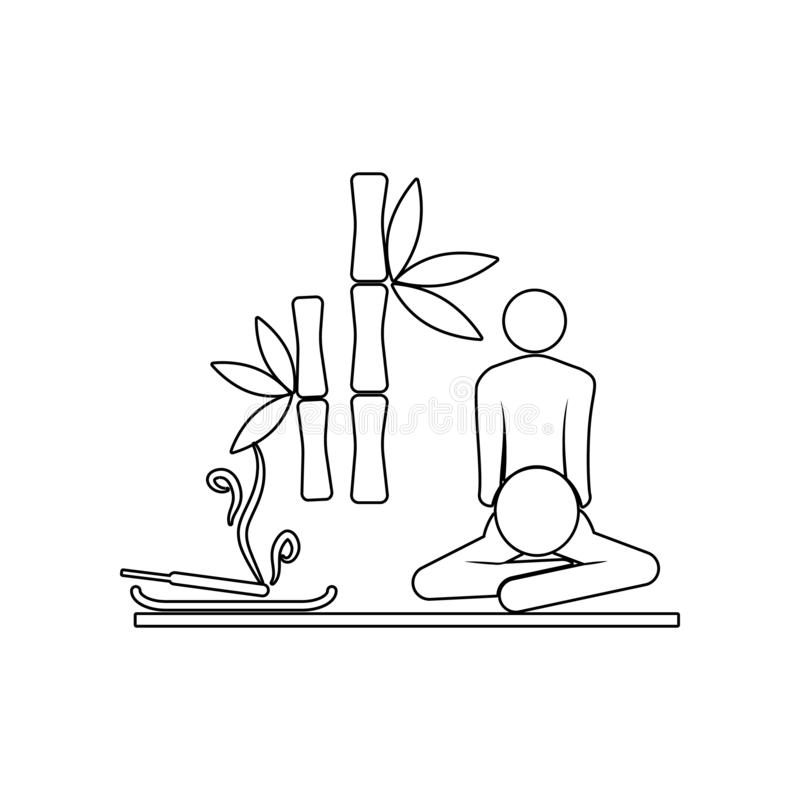 aromatherapy και εικονίδιο μασάζ Στοιχείο της SPA για το κινητό εικονίδιο έννοιας και Ιστού apps r ελεύθερη απεικόνιση δικαιώματος