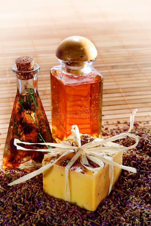 aromatherapy χειροτεχνικό φυσικό σ&a στοκ φωτογραφία