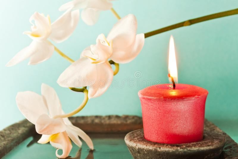 aromatherapy свечка стоковое изображение rf