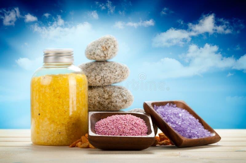 aromatherapy соль для принятия ванны стоковое фото rf