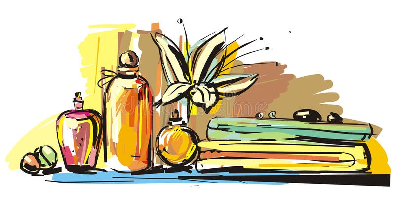 Aromatherapy illustration stock