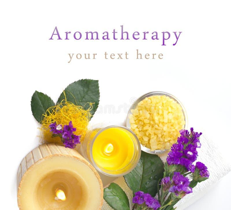 Aromatherapy avec la violette photo stock