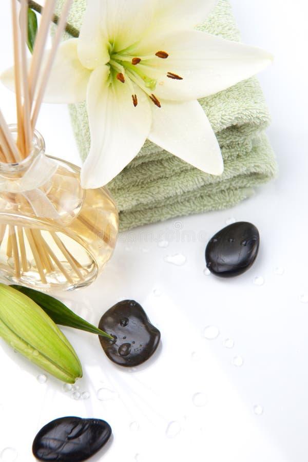 Aromatherapy Badekurortset stockbild