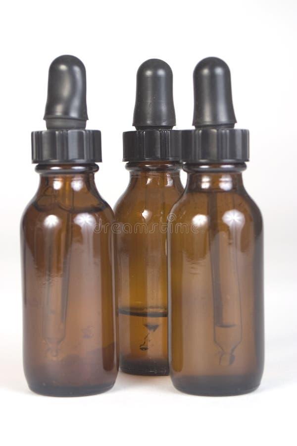 Aromatherapy Brown Bottles Stock Photo