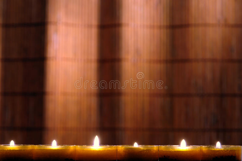 Aromatherapy Candles Burning with Soft Flame stock image