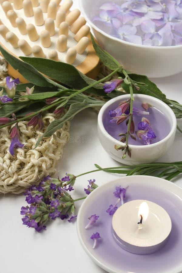 Aromatherapy ed insieme di massaggio immagine stock libera da diritti