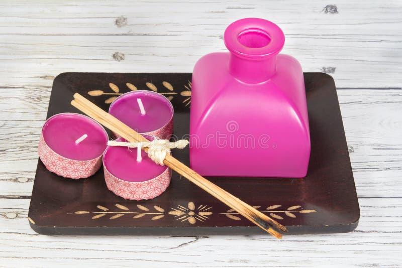 Aromatherapy elements stock image
