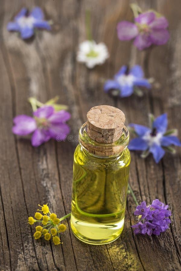 Aromatherapy en wetenschap stock afbeelding