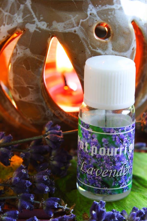 Aromatherapy - essência de alfazema fotos de stock royalty free