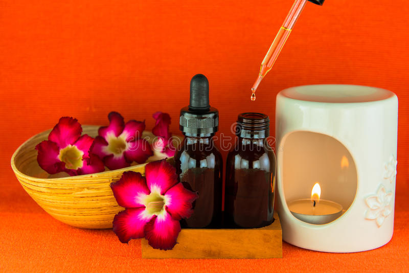 Aromatherapy Essential Oil And The Burner Royalty Free Stock Photo