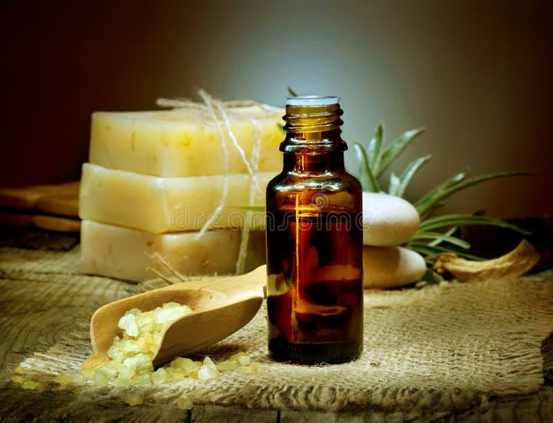 Aromatherapy.Essential Olie royalty-vrije stock afbeelding