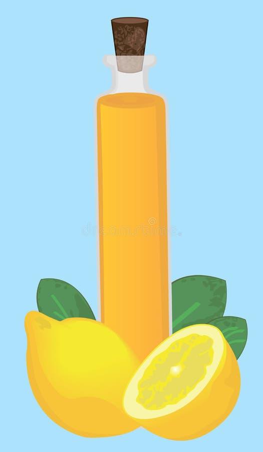 Aromatherapy för nödvändig olja för citron som läker, sjukvård stock illustrationer