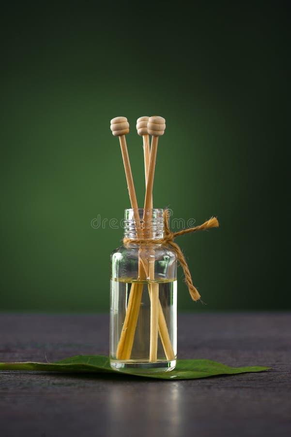 Aromatherapy Fragrance  Oil Frangipani Leaf Stock Photo