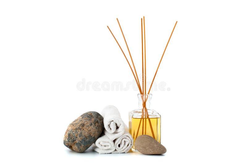 Aromatherapy i błękitna kosmetyczna glina fotografia stock