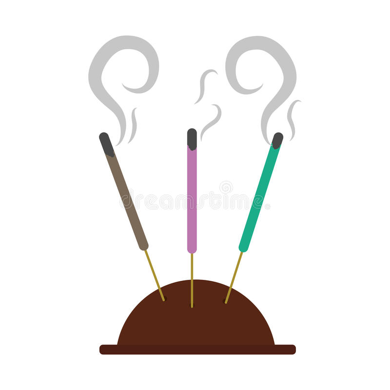 Aromatherapy incense sticks vector illustration