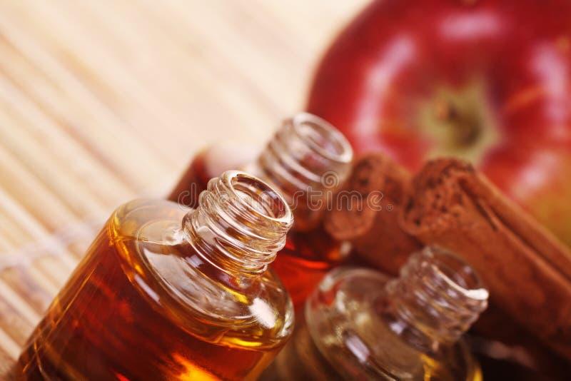 aromatherapy kanel för äpple royaltyfria bilder