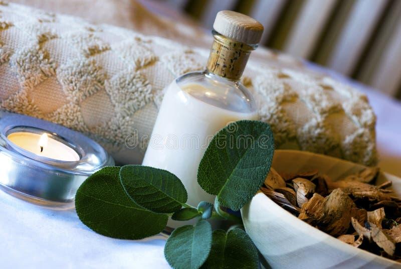 aromatherapy mądry ustalony zdrój zdjęcia stock