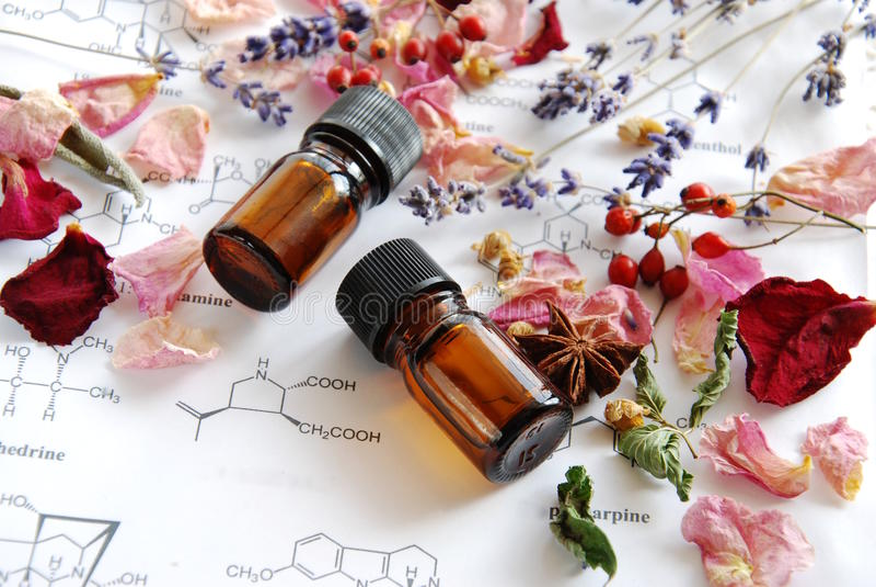 Aromatherapy och vetenskap royaltyfria foton